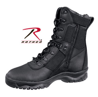 "Rothco Forced Entry Tactical Boot With Side Zipper / 8""-"