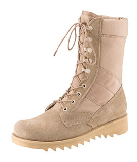 Rothco G.I. Type Ripple Sole Desert Tan Jungle Boots-Rothco