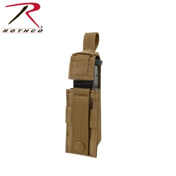 Rothco Single Pistol Mag Pouch With Insert - Molle-