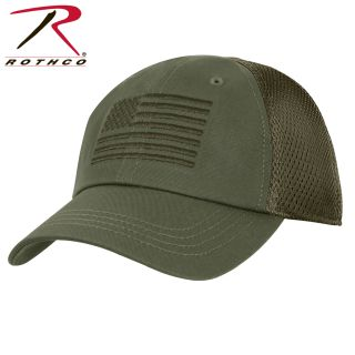 Rothco Tactical Mesh Back Cap With Embroidered US Flag-