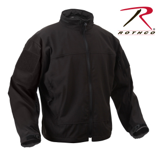 Rothco Covert Ops Lt Weight Soft Shell Jkt-Black