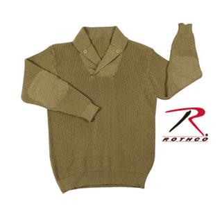5349_Rothco WWII Vintage Mechanics Sweater - Khaki-Rothco