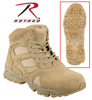Rothco 6 Inch Forced Entry Desert Tan Deployment Boot-Rothco
