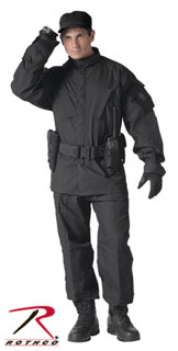 5450_Rothco Combat Uniform Shirt - Black-Rothco