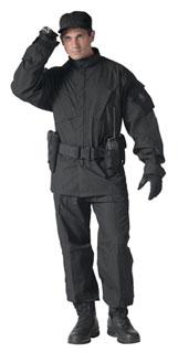 5455_Rothco Combat Uniform Pants - Black-Rothco