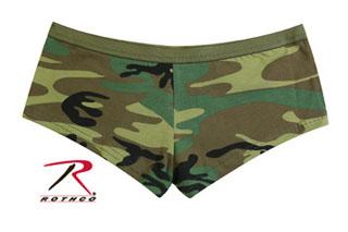 Rothco Woodland Camo Booty Shorts-Rothco