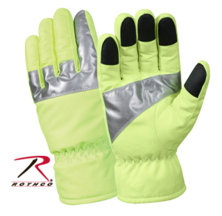 Rothco Safety Green Gloves With Reflective Tape-