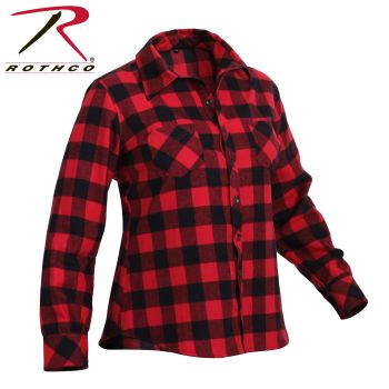 Rothco Womens Plaid Flannel Shirt-