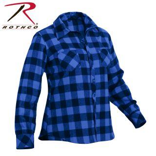 Rothco Womens Plaid Flannel Shirt-