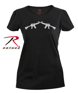 Rothco Womens Crossed Rifle Long Length T-Shirt-