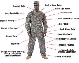 5765_Rothco Camo Army Combat Uniform Shirt-