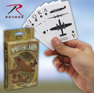 Rothco WWII Spotter Playing Cards CE-