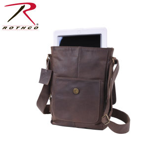 Rothco Brown Leather Military Tech Bag-