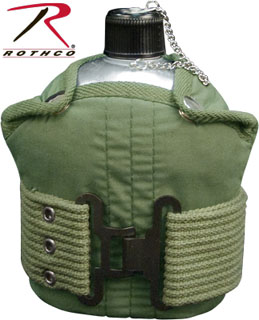 Rothco Aluminum Canteen And Pistol Belt Kit-