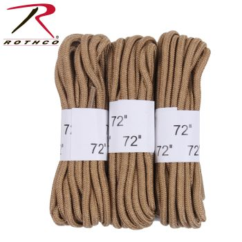 """Rothco 72"""" Boot Laces - 3 Pack-"""