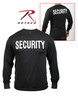 Rothco 2-Sided Security Long Sleeve T-Shirt-Rothco