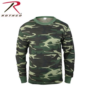 6101 Rothco Thermal Top - Woodland Camo
