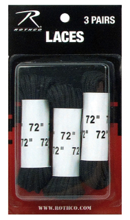 "Rothco 72"" Boot Laces - 3 Pack-"