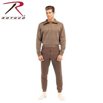6258 6250 GI Brown Extreme Cold Weather Polypropylene Underwear Tops