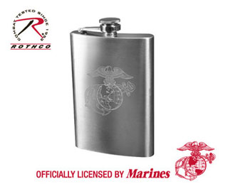 Rothco Engraved Stainless Steel Flasks-
