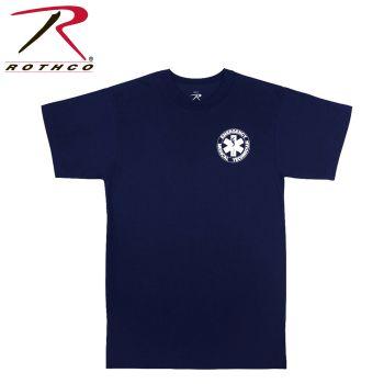 6340 Rothco T-Shirt - Emt / Navy Blue