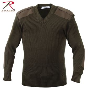 6346 Rothco Acrylic V-Neck Sweater