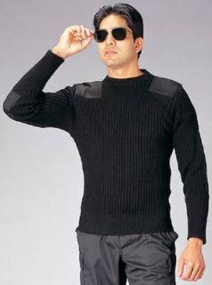 Rothco Wool Commando Sweater - Black / 50, 52