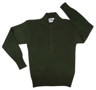 Rothco G.I. Style 5-Button Acrylic Sweater-