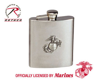Rothco Stainless Steel Marine Corps Emblem Flask-Rothco