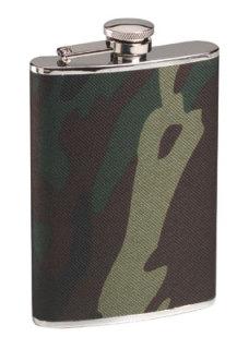 651_Rothco Woodland Camo Stainless Steel Camo Flask-