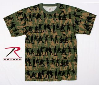66252 Men's Olive Drab Soldier Camo Print T-Shirt