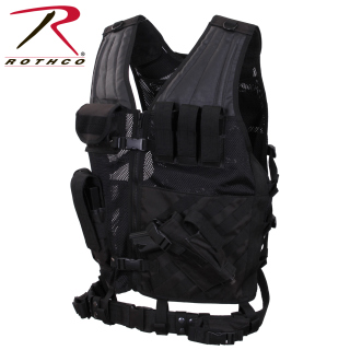 Rothco Tactical Cross Draw Vest - Black