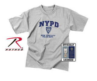 Officially Licensed NYPD Physical Training T-Shirt-Rothco
