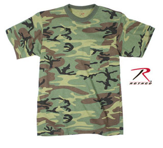 Rothco Woodland Camo T-Shirt w/ Pocket-