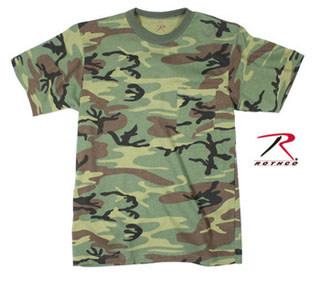 Rothco Woodland Camo T-Shirt w/ Pocket-