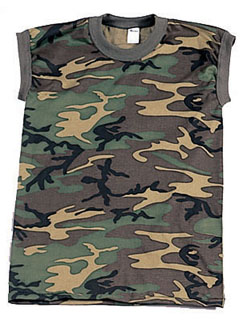 Rothco Woodland Camo Muscle Shirt-