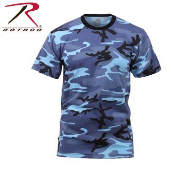 6739 Rothco T-Shirt / Sky Blue Camo