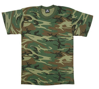Rothco Woodland Camo U.S. Made T-Shirt-