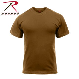 Rothco Solid Color Poly/Cotton Military T-Shirt-