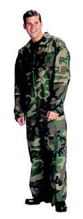 Woodland Camo Flightsuits