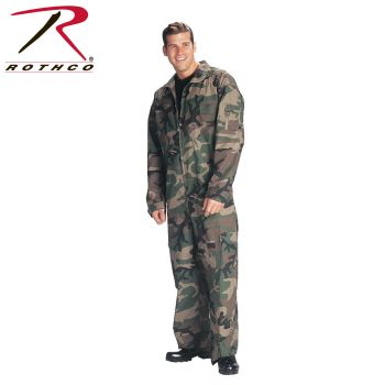 7004 Woodland Camo Flightsuits-Rothco