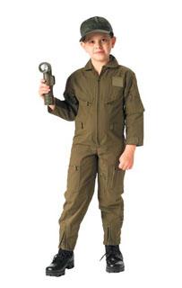 Jr. GI Kids O.D. Air Force Type Flightsuit