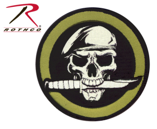 Rothco Military Skull & Knife Morale Patch-Rothco