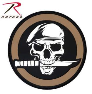 Rothco PVC Military Skull & Knife Morale Patch-