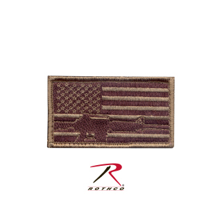 Rothco Subdued Flag & Rifle Morale Patch-