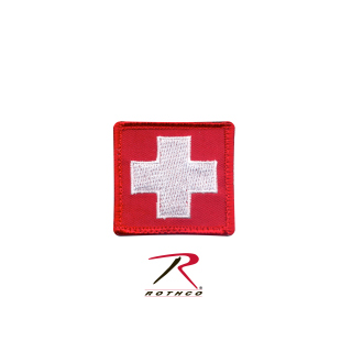 Rothco White Cross Red Morale Patch-Rothco