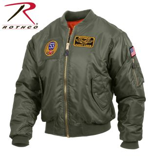 Rothco MA-1 Flight Jacket with Patches-