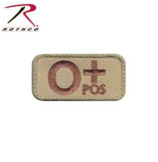Rothco O Positive Blood Type Morale Patch-