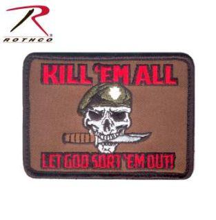 Rothco Kill Em All Let God Sort Em Out Morale Patch-Rothco