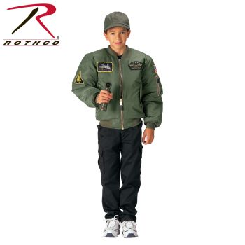 Rothco Kids Flight Jacket With Patches-Rothco